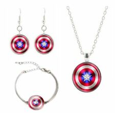 captain america necklace dogtag bracelet set xmas stocking filler birthday gift
