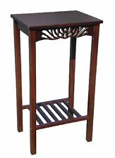 D-ART Tall Telephone End Table - in mahogany wood NEW