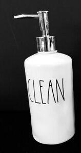 RAE DUNN SOAP DISPENSER ROUND - SILVER PUMP- BATHROOM DESK ORGANIZER KITCHEN