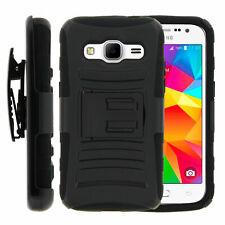 For Samsung Galaxy Prevail LTE Clip Kickstand Black Case