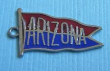 Arizona pennant sterling charm Vintage enamel University of
