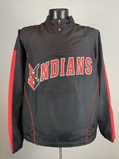 Men's Majestic Cool Base Indianapolis Indians Black Minor League Baseball Jacket