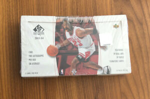 2003-04 UD SP Authentic Basketball Factory Sealed Hobby Box LEBRON JAMES RC Year