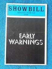 Early Warnings - Manhattan Theatre Club Playbill - May 1983 - Shami Chaikin