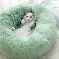 Pet Bed Round Cat Winter Warm Dog House Sleeping Bag Plush Super Soft Pet Bed