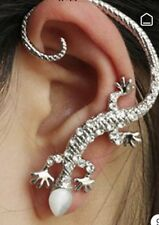 Boho Festival Party Luxury Boutique Uk Silver Lizard Crystal Fashion Ear Cuff
