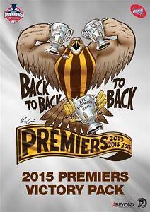 AFL 2015 Premiers Victory Pack Hawks (DVD, 4-Disc Set) NEW SEALED