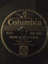 "1950 FRANKIE HOWERD 10"" 78rpm ENGLISH AS SHE IS SPOKEN COLUMBIA DB2694"