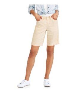 Women's Linen Shorts Faded Glory Women's Linen Bermuda Shorts SIZE 6 Beige Khaki