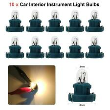 10pcs T3 LED 12V Car Interior Instrument Light Bulbs Dashboard (Black, Green)