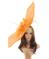 Orange Fascinator for Ascot, Weddings, Proms, Derby, Formal Events E1