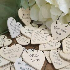 Friendship Present Gift Tag Small Wooden Heart 3cm Friend Keepsake Message Hang