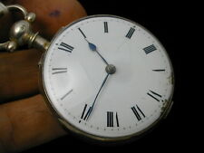 VINTAGE 1760S 1820S VERGE FUSEE ROBERTS LONDON SILVER POCKET WATCH