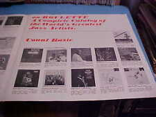 VINTAGE RECORD ALBUM CATALOG INSERT ROULETTE/ROOST JAZZ VARIOUS STARS ARTISTS