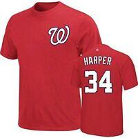 Washington Nationals #34 Bryce Harper MLB Majestic Mens Shirt Big & Tall Sizes