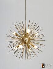 8 Light Bulbs Mid Century Modern Brass Sputnik Urchin Chandelier Light Fixture