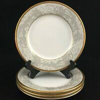 "Set of 4 VTG Bread Plates 6 1/2"" Nikko Fine China Evening Lace 2750 Thailand"