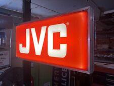 Vintage JVC Lighted Box Sign Advertising Speakers Stereo Speakers