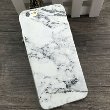 White Granite Marble Soft Case Cover For iPhone X 5 5S SE 6 7 8 Plus