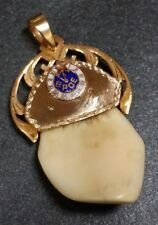 14K Gold Antique Los Angeles BPOE Elks Lodge #99 Fob Pendant Extraordinary 1920s