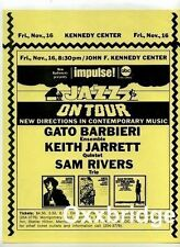 SAM RIVERS TRIO Keith Jarrett Quintet IMPULSE Original Jazz Poster 1973 Barbieri