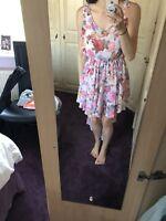Topshop Floral Flowy Midi Prom Dress | Size M/L