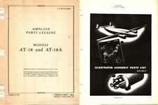 Hudson AT-18 aircraft parts service manual 1940's WW2 A-28 A-29  PERIOD ARCHIVE