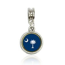 South Carolina State Flag Euro European Italian Style Bracelet Bead Charm