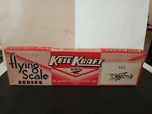 Vintage Keil Kraft S.E.5 Balsa Elastic Band  WW I Biplane Kit, Totally Original!