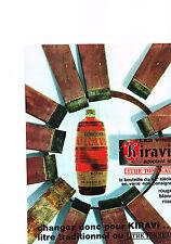 PUBLICITE ADVERTISING  1964   VIN  LITRE TONNEAU   KIRAVI