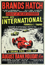 AD72 Vintage 1960's Brands Hatch Silver City F1 Motor Racing Poster Print A4