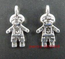 150pcs Tibet Silver Little Boy Charms Pendants 16.5x9mm ZN40435