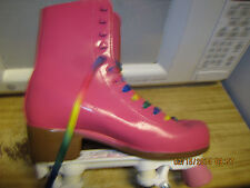 Women  Roller Skates  Hot Pink size 6-9,  heel to toe is  in. No More Rentals!!!