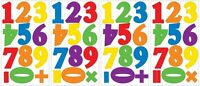 NUMBERS WALL STICKERS 48 Primary Colors Counting Decals Classroom Decorations
