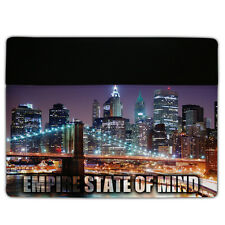 Protective Leather/Suede Case Fits iPad 2 & 3 Cover - NYC- Empire State of Mind