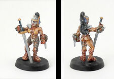 Kreela - Female Barbarian RPG Gaming miniature for D&D Warhammer or horror