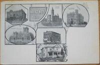 1905 Postcard: Six Views of Aurora, Nebraska - Neb - NE