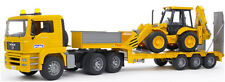 Bruder MAN TGA Low loader Kids Toy Truck w JCB Backhoe 02776 NEW in Box