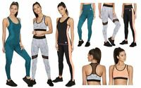Ladies RedTag Fitness Exercise High Waist Gym Sports Leggings, Vest and Crop Top