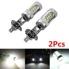 2X H1 80W 3030 16SMD 6000K Car DRL Driving Lamp Sidelight Fog Light Xenon White