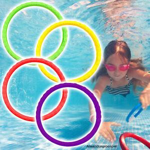 Tauchringe 4er Set Unterwasser tauchen Spielzeug Tauchspielzeug Tauchspiel