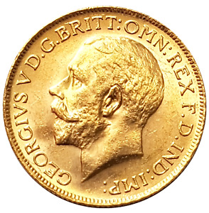 1917-P King George V Gold Sovereign (Perth)