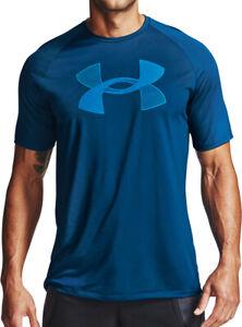 Under Armour Tech Graphic Short Sleeve Mens Running Top - Blue