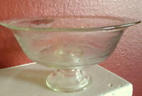 Clear Madrid Pattern Fruit Bowl Footed Pedestal Indiana Glass Reproduction