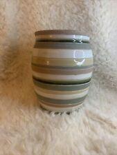 Beautiful Ceramic Art Pottery Pastel Striped Vase Planter