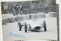 34281 Foto DDR Auto Rennen Autografo Willy Vroomen Belgio 1961 Corridori