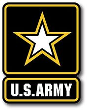 """US ARMY MILITARY CAR TRUCK 5.5"""" x 4"""" HIGH QUALITY STICKER DECAL 3M USA MADE"""