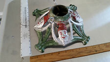 Tree Stand Cast Iron 4 Faces of Santa Christmas Tree Stand