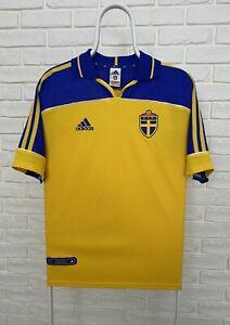 Sweden National 2000 2001 2002 Adidas Home Football Shirt Soccer Jersey Size M