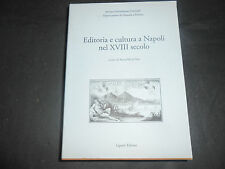 1998 ANNA MARIA RAO EDITORIA E CULTURA A NAPOLI NEL XVIII SECOLO LIGUORI EDITORE